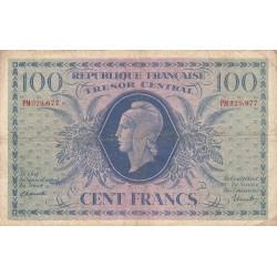 VF 6-1e - 100 francs - Trésor central - 1943 - Etat : TB