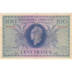 Trésor - Fayette VF 6-1f - 100 francs - Trésor central - 1943