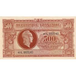 VF 11-1 - 500 francs - Marianne - 1945 - Etat : SUP-
