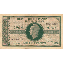 VF 13-2 - 1000 francs - Marianne - 1945 - Etat : TB+