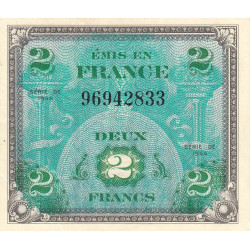 VF 16-1 - 2 francs - Drapeau - 1944 - Etat : SUP+ à SPL