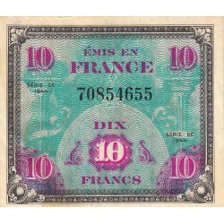 Trésor - Fayette VF 18-1 - 10 francs - Drapeau - 1944