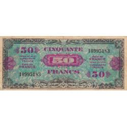 VF 19-1 - 50 francs - Drapeau - 1944 - Etat : TTB+