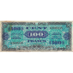 VF 20-1 - 100 francs - Drapeau - 1944 - Etat : TB-
