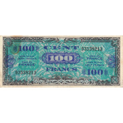 VF 20-1 - 100 francs - Drapeau - 1944 - Etat : TB+