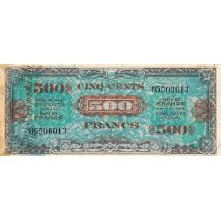 VF 21-1 - 500 francs - Drapeau - 1944 - Etat : B