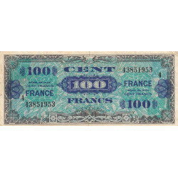 VF 25-4 - 100 francs série 4 - France - 1944 - Etat : TB+