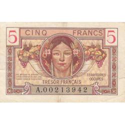VF 29-1 - 5 francs - Trésor français - 1947 - Etat : TTB-
