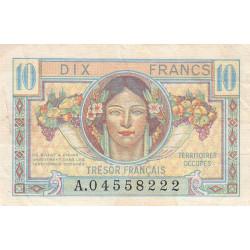 VF 30-1 - 10 francs - Trésor français - 1947 - Etat : TTB