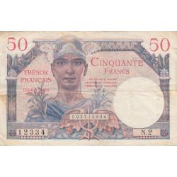 VF 31-1 - 50 francs - Trésor français - 1947 - Etat : TB+