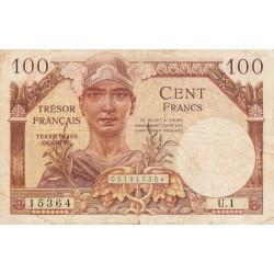 VF 32-1 - 100 francs - Trésor français - 1947 - Etat : TB
