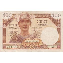 VF 32-1 - 100 francs - Trésor français - 1947 - Etat : TB+