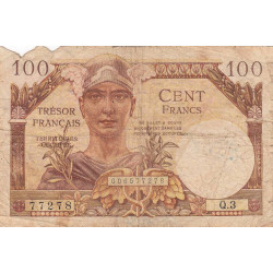 VF 32-1 - 100 francs - Trésor français - 1947 - Etat : AB