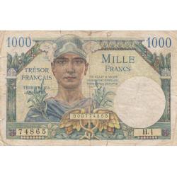 VF 33-1 - 1'000 francs - Trésor français - 1947 - Etat : TB-