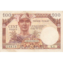VF 34-1 - 100 francs - Trésor public - 1955 - Etat : TTB-