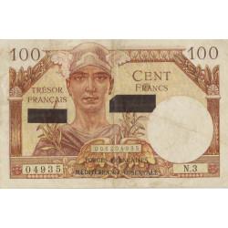 Trésor - Fayette VF 42-1 - 100 francs - Suez - 1956