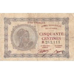 VF 50-2 - 50 centimes - Mines Domaniales de la Sarre - 1920 - Etat : TB