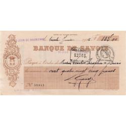 Banque de Savoie - Chèque 1926 - 1a - Etat : TTB+