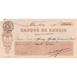 Banque de Savoie - Chèque 1926 - 1a - Etat : TB+