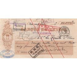 Banque de Savoie - Chèque 1926 - 3a - Etat : TTB+