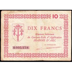 """Croiseur-Ecole """"Jeanne d'Arc"""" - 10 francs - 1947 - Etat : TB+"""