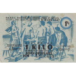 Billet de 1 kg acier ordinaire - 31-03-1947 - Endossé - Etat : TTB+