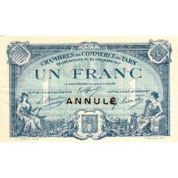 Albi / Castres / Mazamet (Tarn) - Pirot 5-14 - 1 franc (Tarn) - Annulé - Etat : TTB+