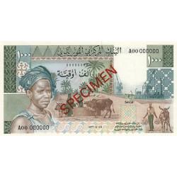 Mauritanie - Pick 3Cs - 1'000 ouguiya - 1975 - Spécimen non émis - Etat : NEUF