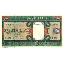 Mauritanie - Pick 8as - 500 ouguiya - 1999 - Spécimen - Etat : NEUF