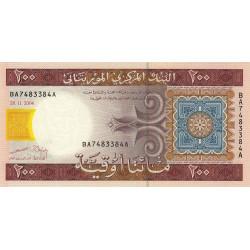 Mauritanie - Pick 11a - 200 ouguiya - 2004 - Etat : NEUF
