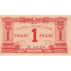 Agen - Pirot 2-3b - 1 franc - 1914 - Etat : TTB+