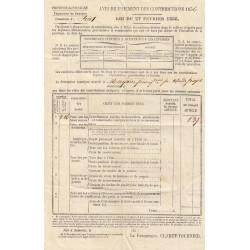Duché de Savoie - Samoens - Contributions 1856 - 1 livre - Etat : TTB+
