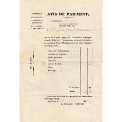 Duché de Savoie - Samoens - Contributions 1857 - 1 livre - Etat : TTB+