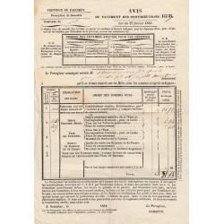 Duché de Savoie - Samoens - Contributions 1859 - 31 livres - Etat : TTB+