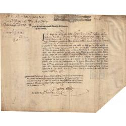 Ain - Bourg - Louis XIV - Charge de Notaire 1696 - 80 livres