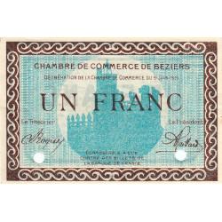Béziers - Pirot 27-14 - 1 franc - Spécimen - Etat : SUP+