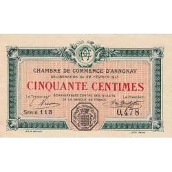 Annonay - Pirot 11-9 - 50 centimes - Etat : SPL