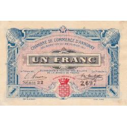 Annonay - Pirot 11-12 - 1 franc - Etat : SUP