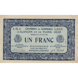 Alençon / Flers (Orne) - Pirot 6-48 - 1 franc