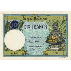 Madagascar - Pick 36b - 10 francs - 1937 - Etat : TTB