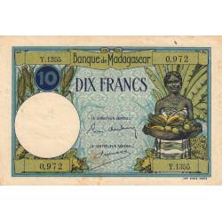 Madagascar - Pick 36b - 10 francs - 1937 - Etat : TB