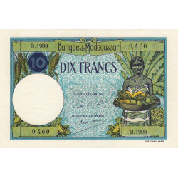 Madagascar - Pick 36c - 10 francs - 1948 - Etat : SUP+