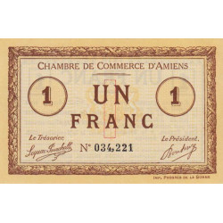 Amiens - Pirot 007-08 - 1 franc