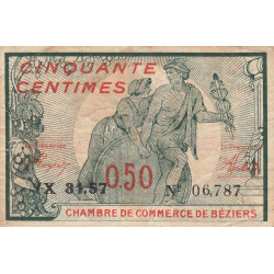 Béziers - Pirot 27-25a - 50 centimes - Etat : TB