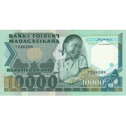 Madagascar - Pick 70a - 10'000 francs - 2'000 ariary - 1983 - Etat : SUP