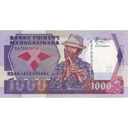 Madagascar - Pick 72a - 200 ariary - 1'000 francs - 1988