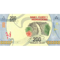 Madagascar - Pick 98 - 200 ariary - 2017