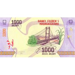 Madagascar - Pick 100 - 1'000 ariary - 2017
