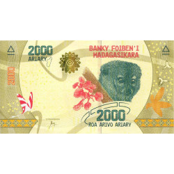 Madagascar - Pick 101 - 2'000 ariary - 2017