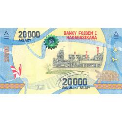 Madagascar - Pick 104 - 20'000 ariary - 2017
